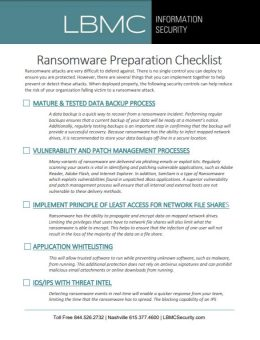 Ransomware Protection Checklist - Free Downoad