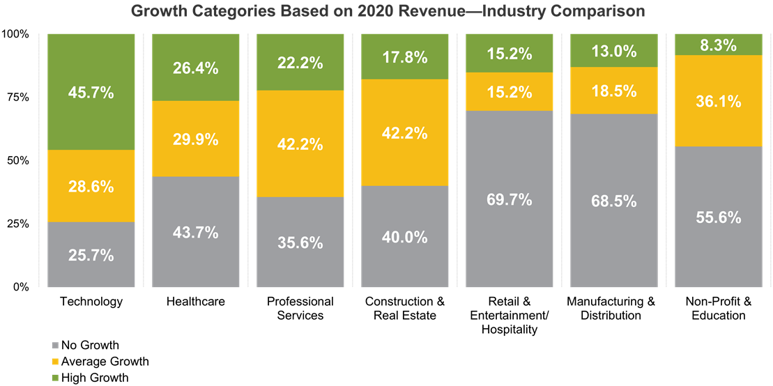 Growth Categories Based o 2020 Revenue