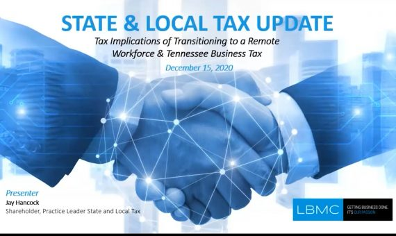 State and Local Tax Update with Jay Hancock - 12.15.2020