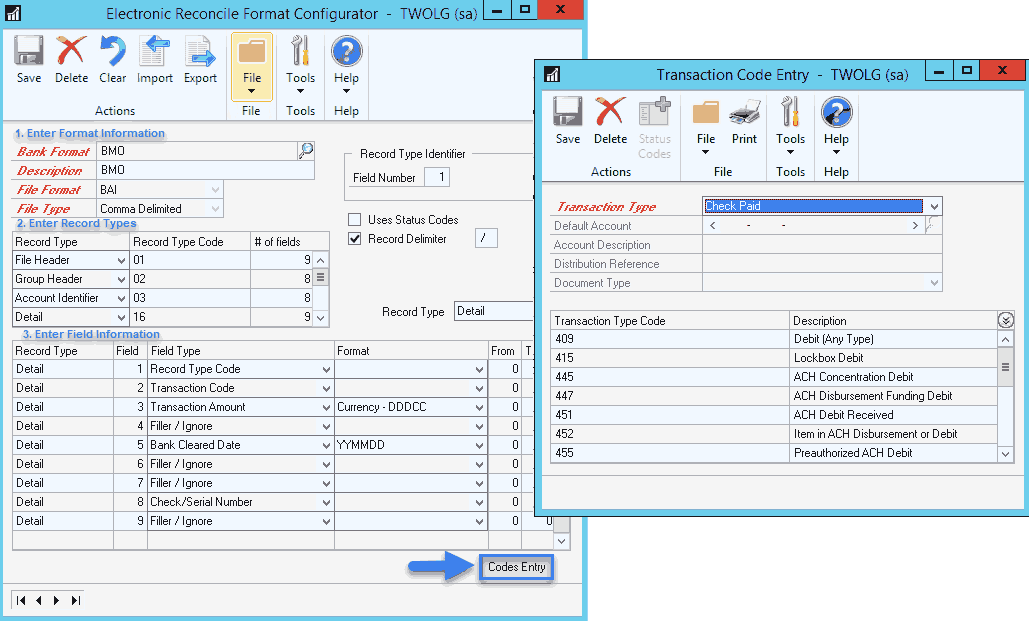 Electronic Bank Reconciliation